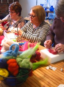 Beginner felters taking a stab at it.